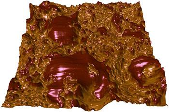 Chocolate imaged using atomic force microscopy
