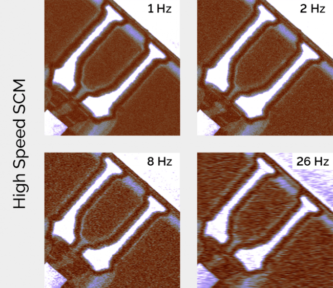 Scanning Capacitance Microscopy (SCM) of SRAM (Static RAM) high speed AFM imaging