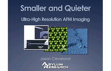 Smaller and Quiter: Ultra-high Resolution AFM Imaging